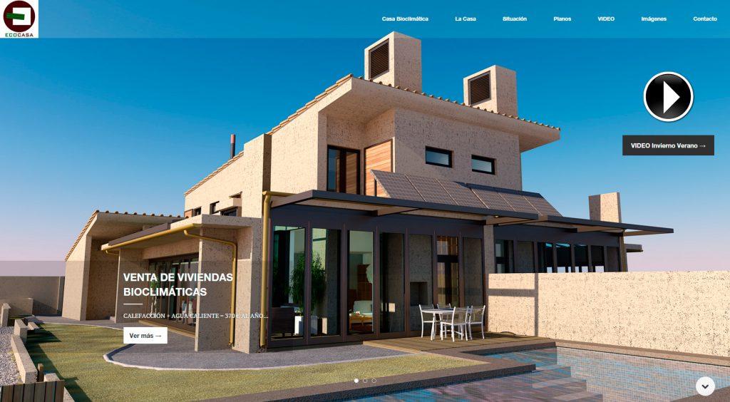 Web de Ecocasa - casa económica y ecológica