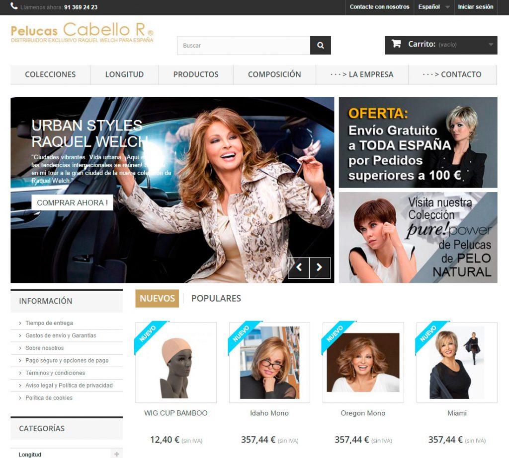 tienda online Pelucas Cabello R