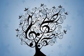arbol con notas musicales
