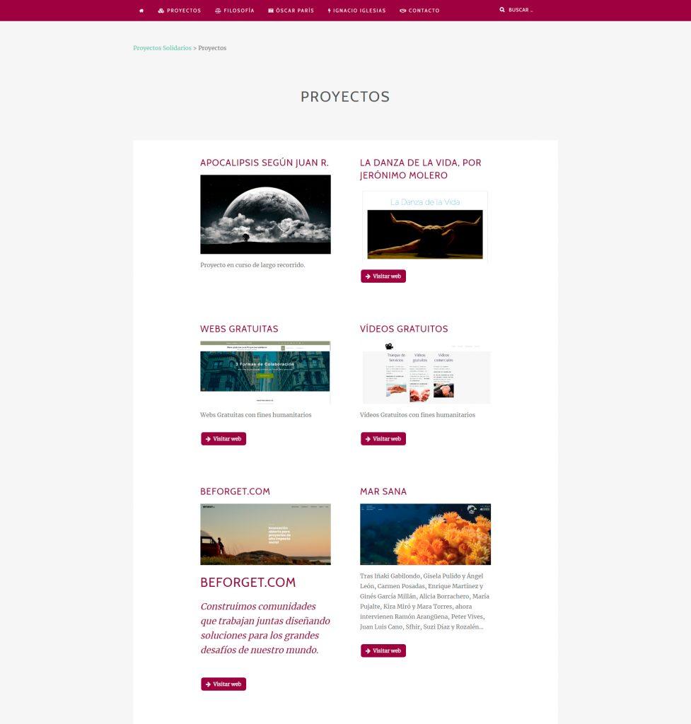 Web proyectos.trespies.com